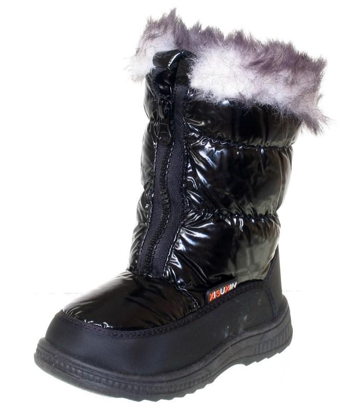 Зимние термосапожки на девочку black