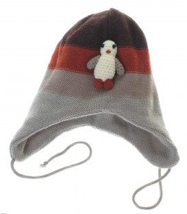 Вязаная шапочка ZIPPY пингвин