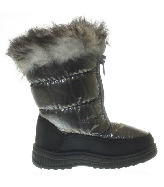 Зимові термо чобітки на дівчинку grey