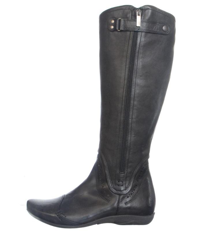 Кожаные сапоги Footnotes black H