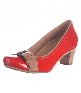 Кожаные туфли Footnotes red