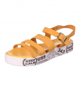 Шкіряні босоніжки Bellini yellow