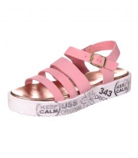 Шкіряні босоніжки Bellini pink